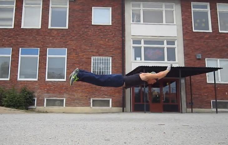 flying push-up