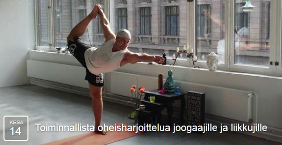 joogaa ja liikkumista